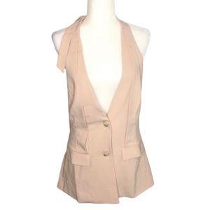 Greylin Pale Pink Deep V Neck Open Back Dress